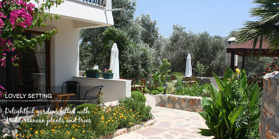 Apartments Patara set in lovely gardens