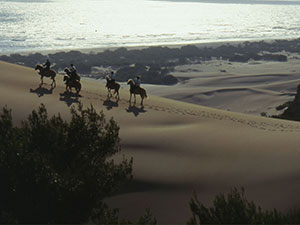 Riding over the dunes on Patara Beach