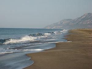 The world famous Patara beach